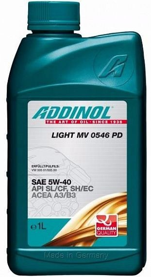 Addinol Light Mv 0546 Pd 5W-40