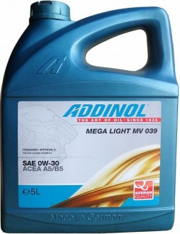 Addinol Mega Light Mv 039 SAE 0W-30